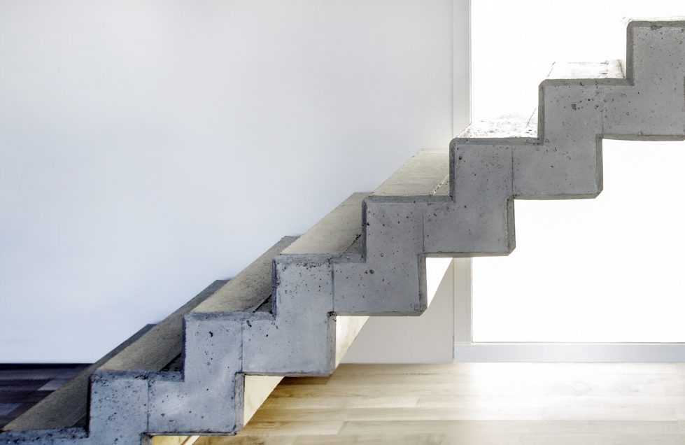 aqso cuña house stairs concrete