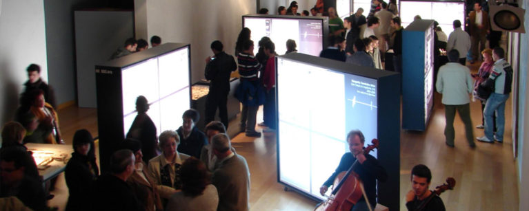 aqso arquitectos office, exhibition, illuminated boards, spain, valladolid, agoras, modelmaking, backlighted box, event