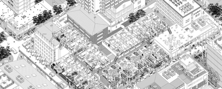 aqso, axonometric view, urban diversity