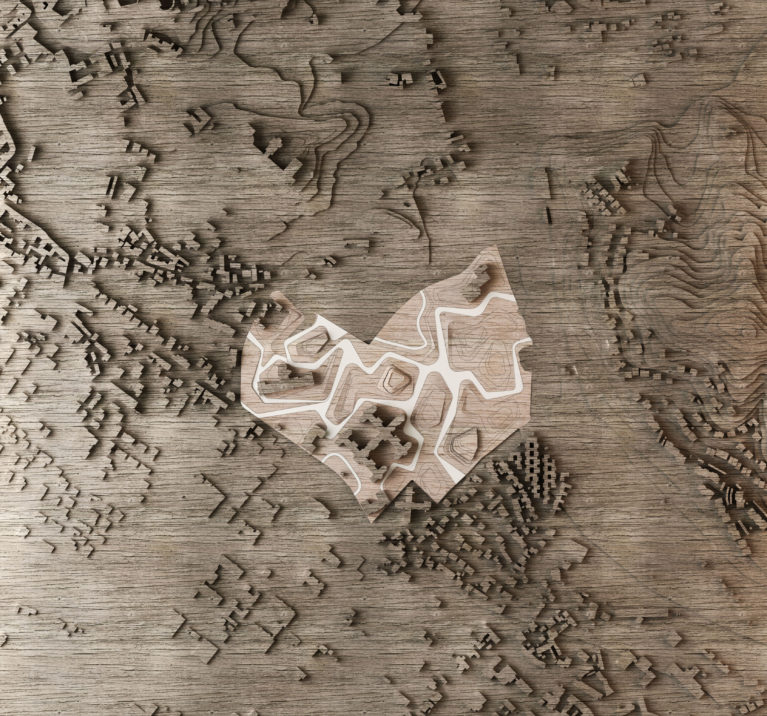aqso, physical model, timber, site, landscape, gorizia