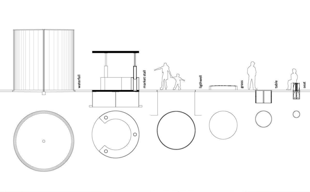 el detalle del mobiliario urbano