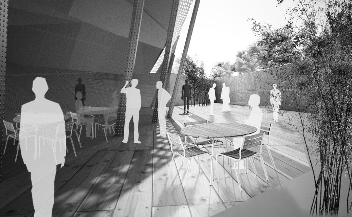 la terraza de la cubierta