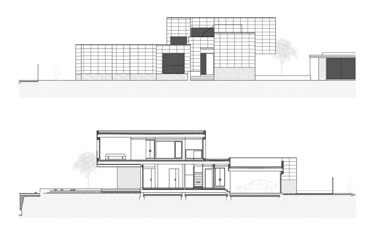 the section and elevation