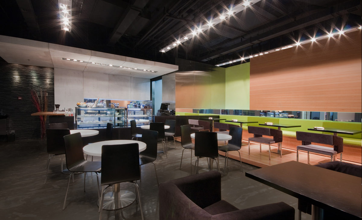 AQSO moment cafe, concrete wall