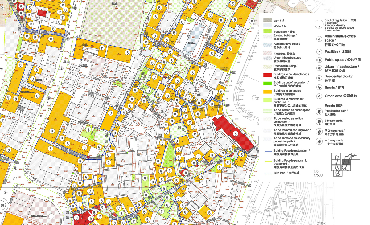 AQSO Pengshui city planning, regeneration masterplan, catalog of interventions
