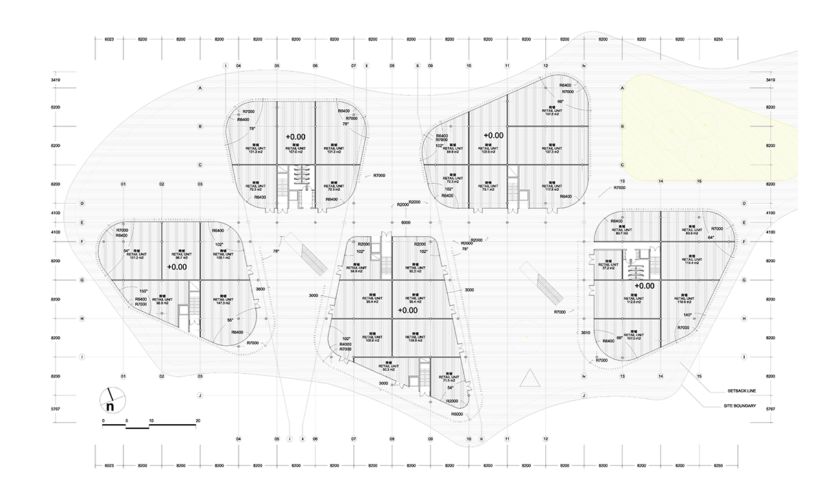 aqso, interior, ground floor plan, retail, facade protection
