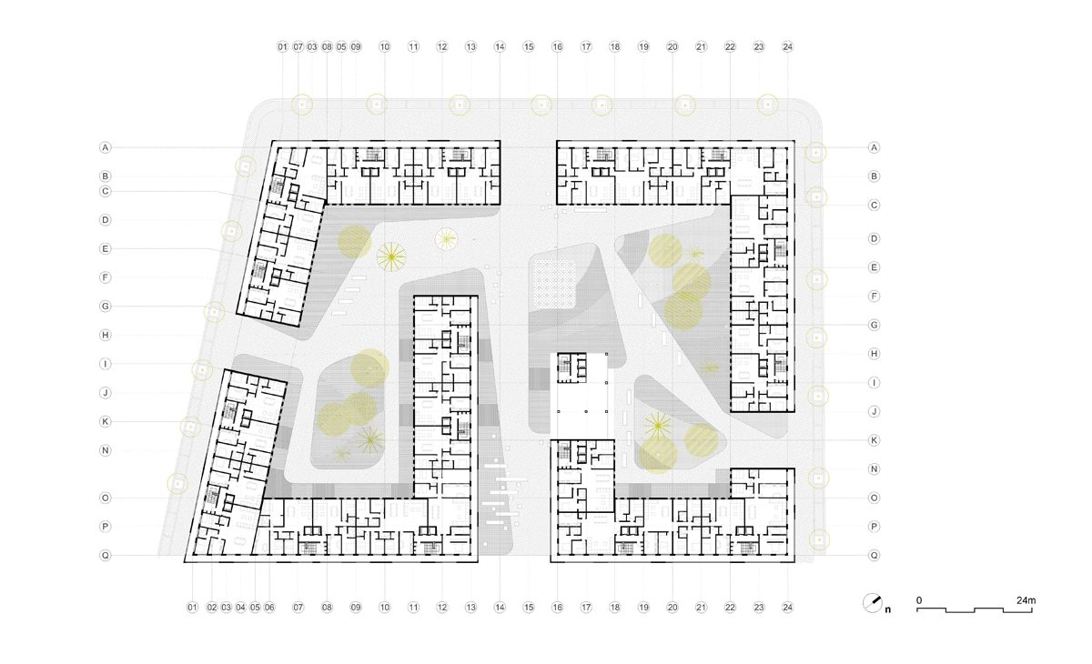 AQSO anfa residential, floor plan, residential units, apartments, technical drawing, developed design