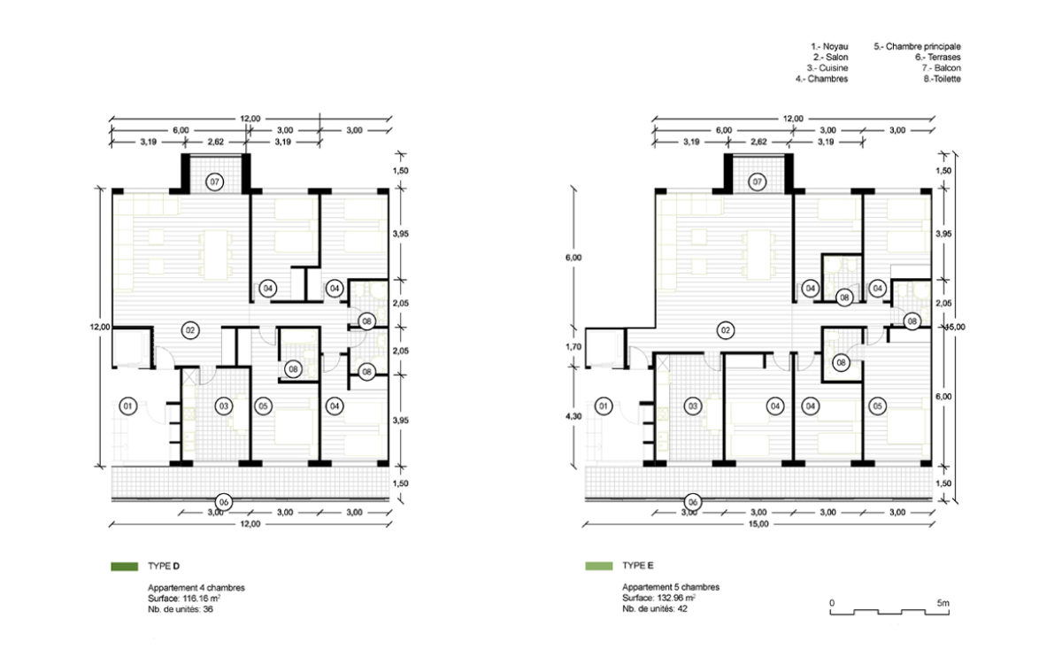 the floor plan layout of the large flats