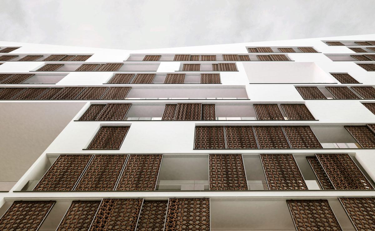 la fachada urbana
