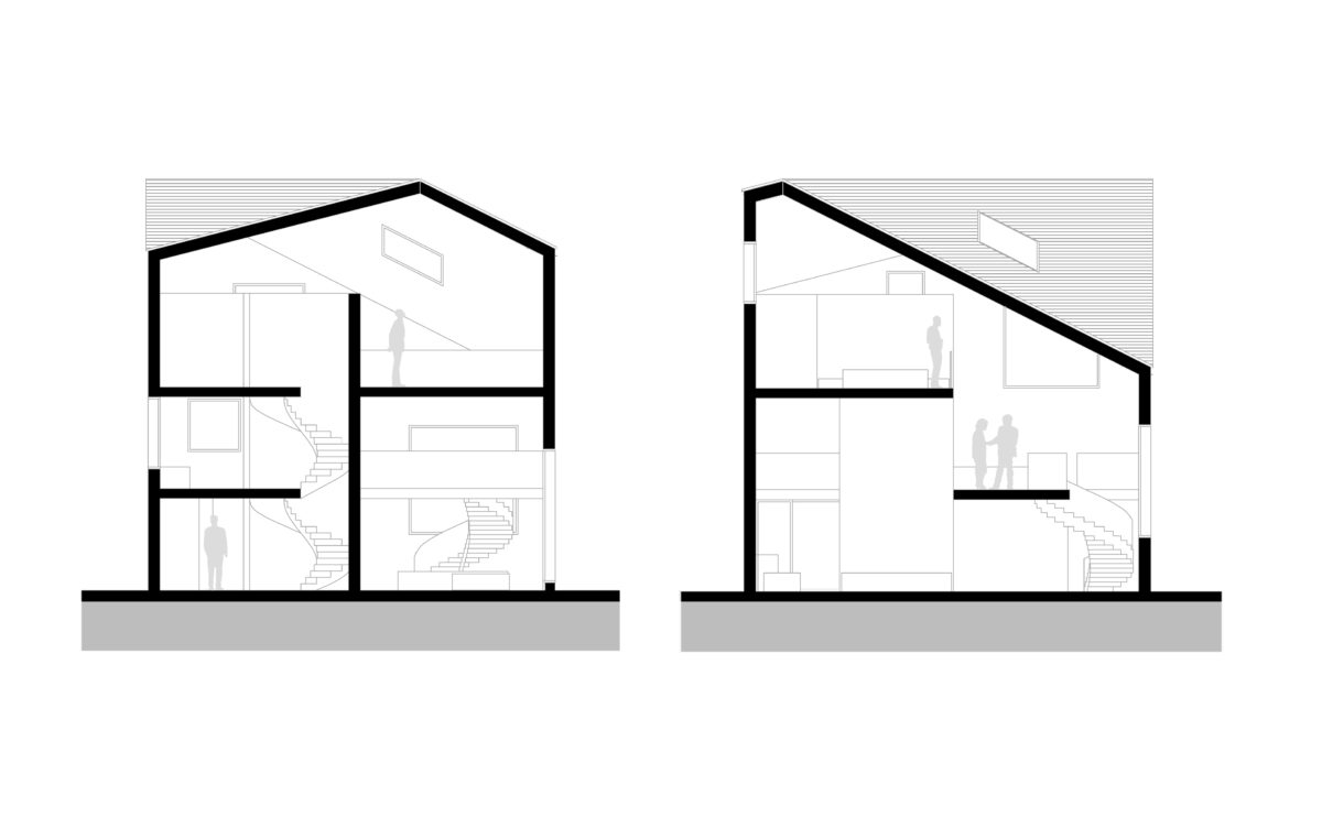 the villa cross sections