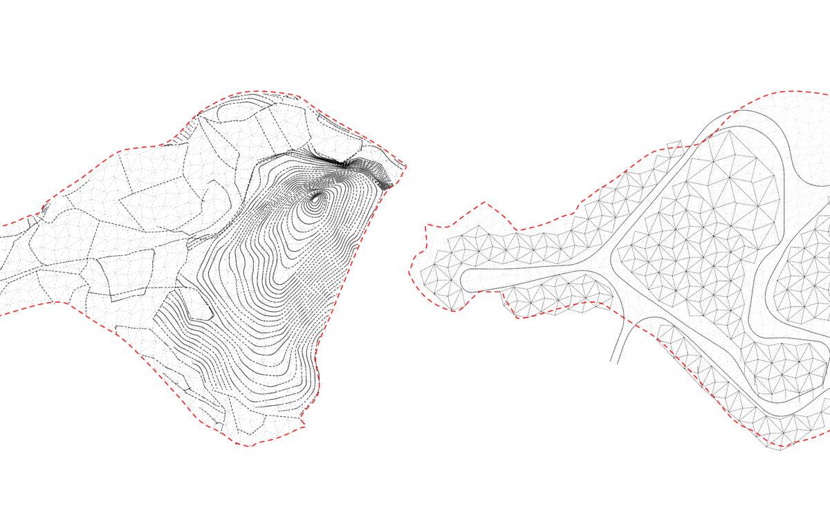 la adaptación de la topografía