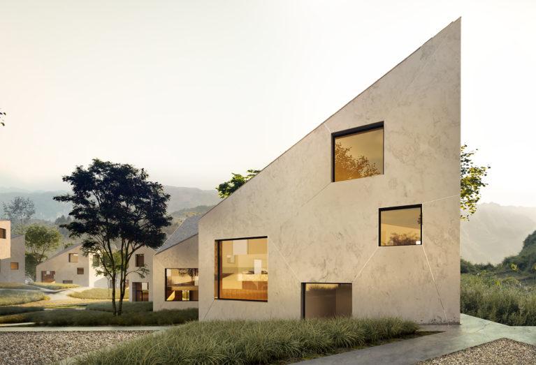 aqso arquitectos office, paisajismo, grava, escena sugerente, hogares cálidos, aldea amable, grandes ventanas, hotel en la naturaleza, diseño de villas de lujo