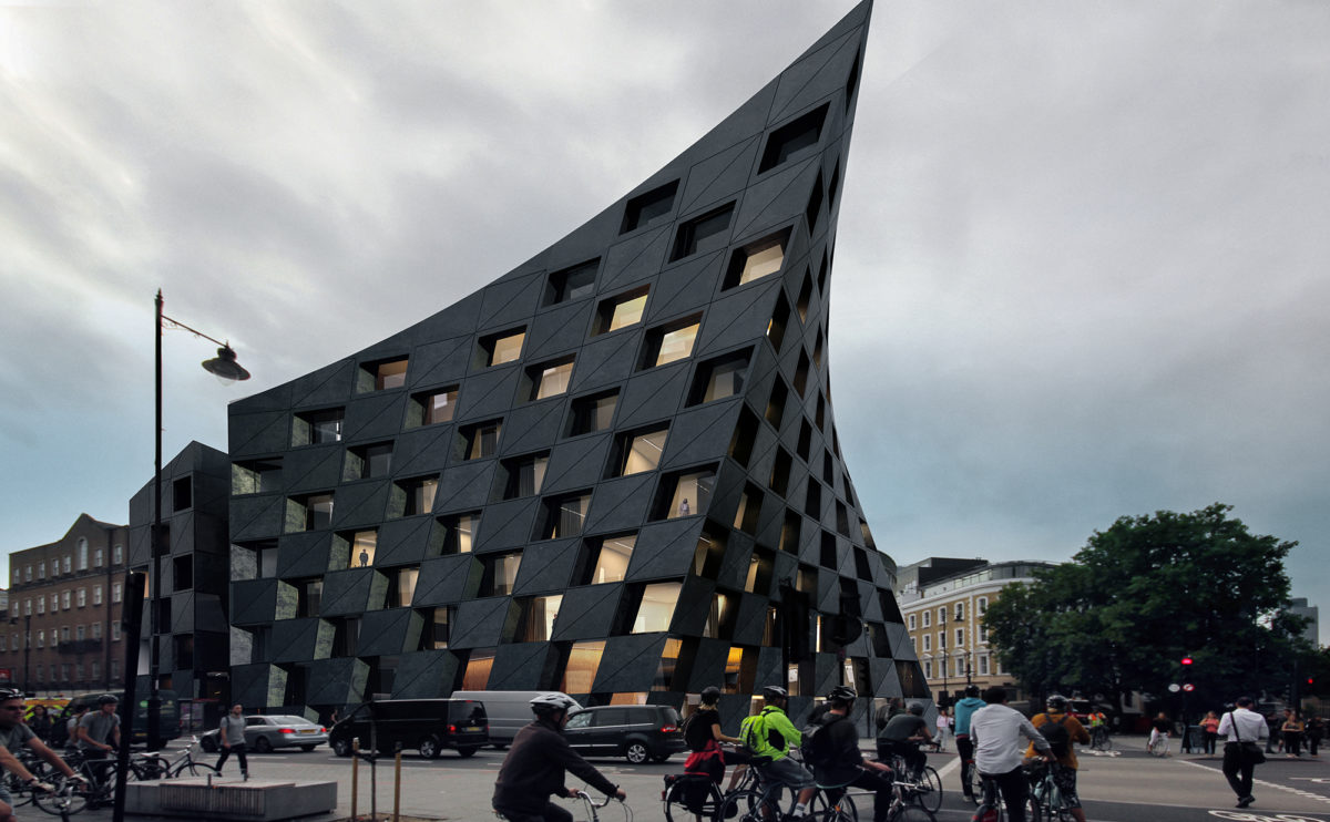 AQSO_arquitectos_office_Shoreditch-hotel-black-concrete-ruled-surface-urban-icon