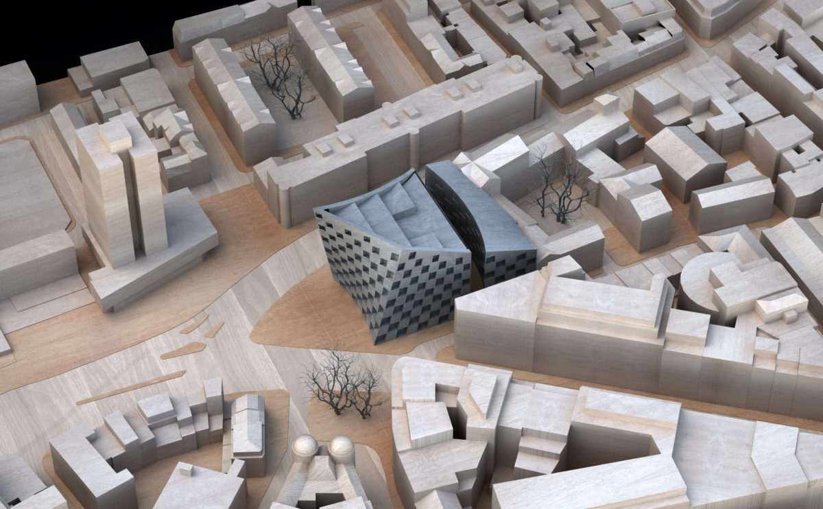 AQSO_arquitectos_office_Shoreditch-hotel-physical-model-context-timber