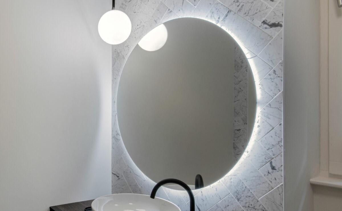 el espejo del baño
