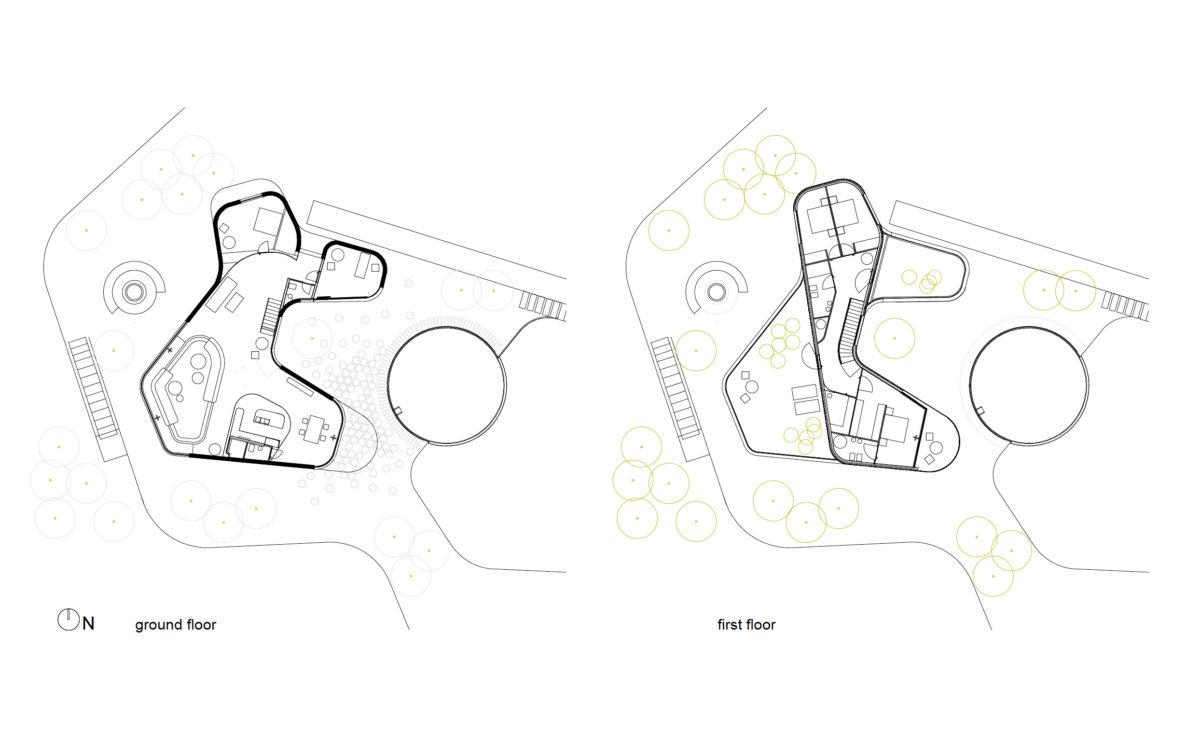 the floor layouts