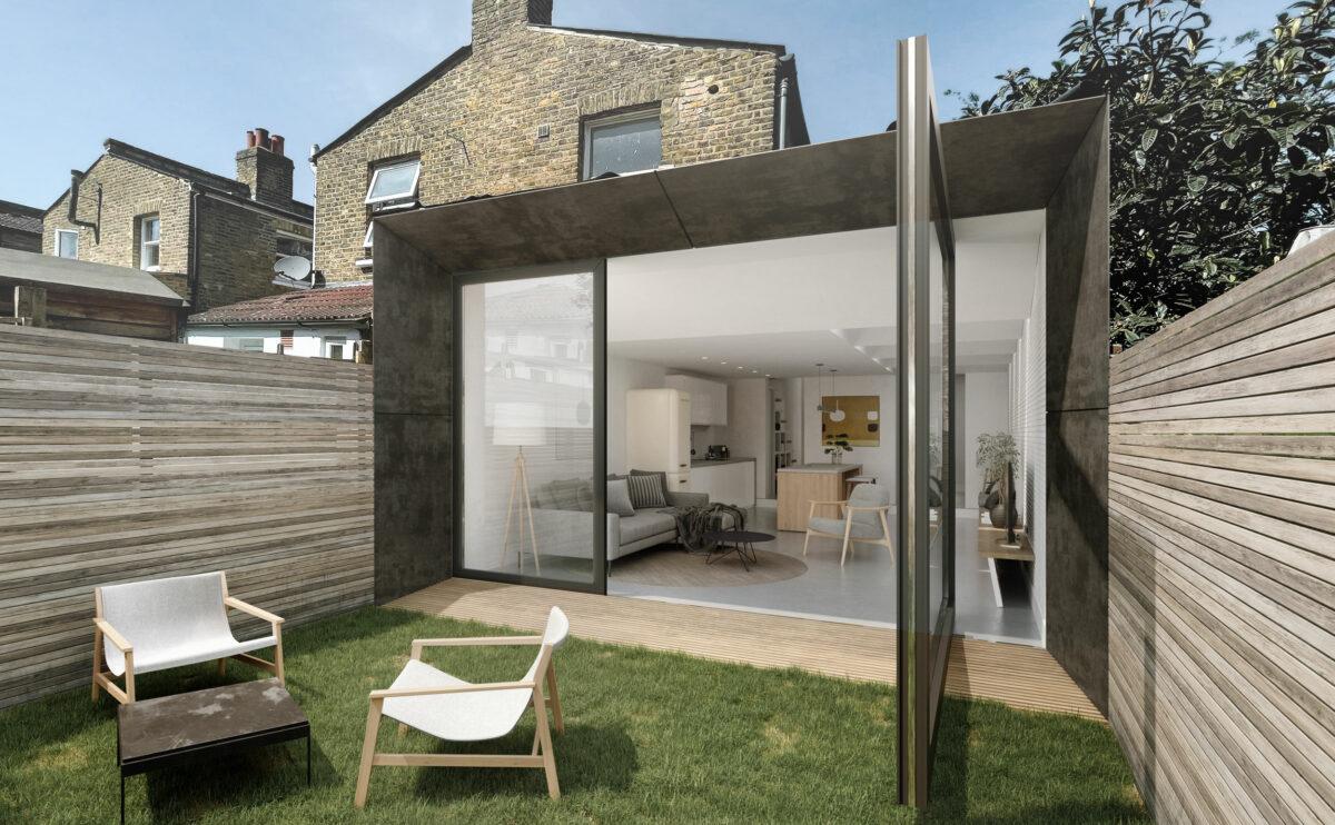 the garden pivot door