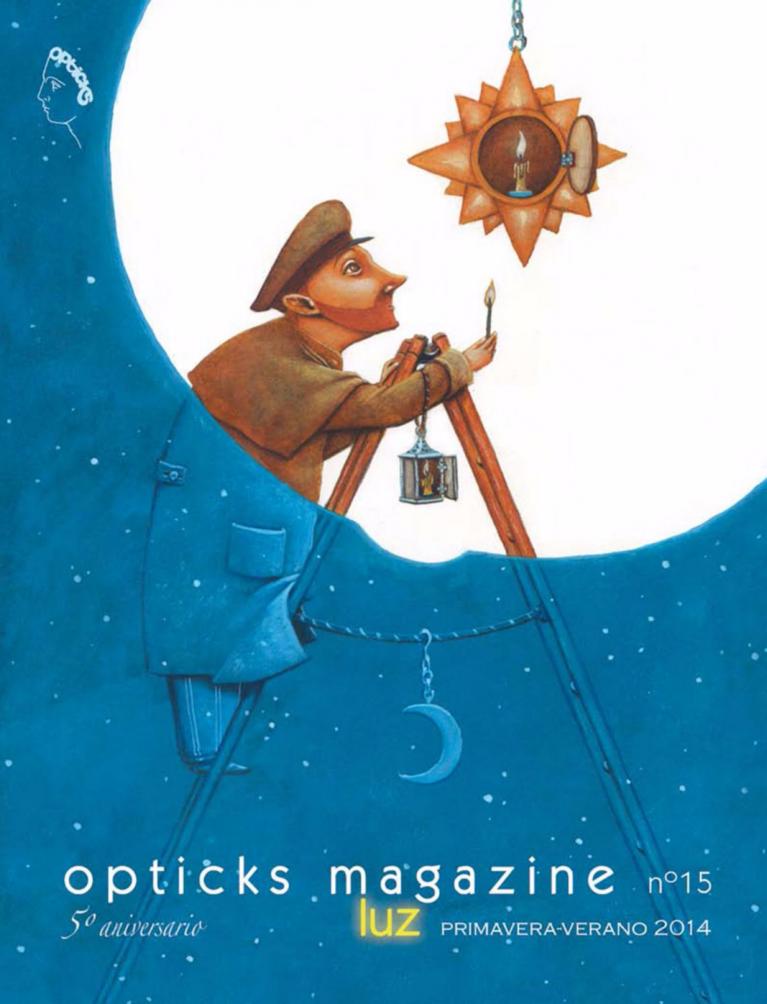 Opticks magazine. Luz. Cover page
