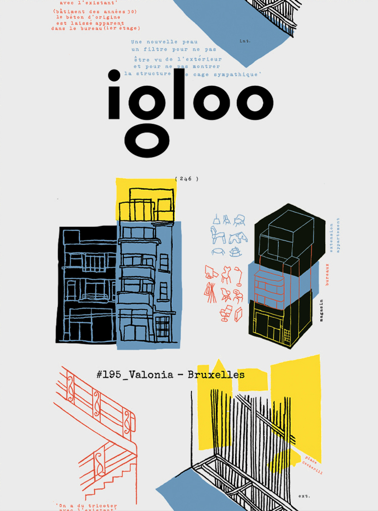 Front cover of the 195 edition of the Romanian magazine Igloo, where AQSO's projects have been featured.