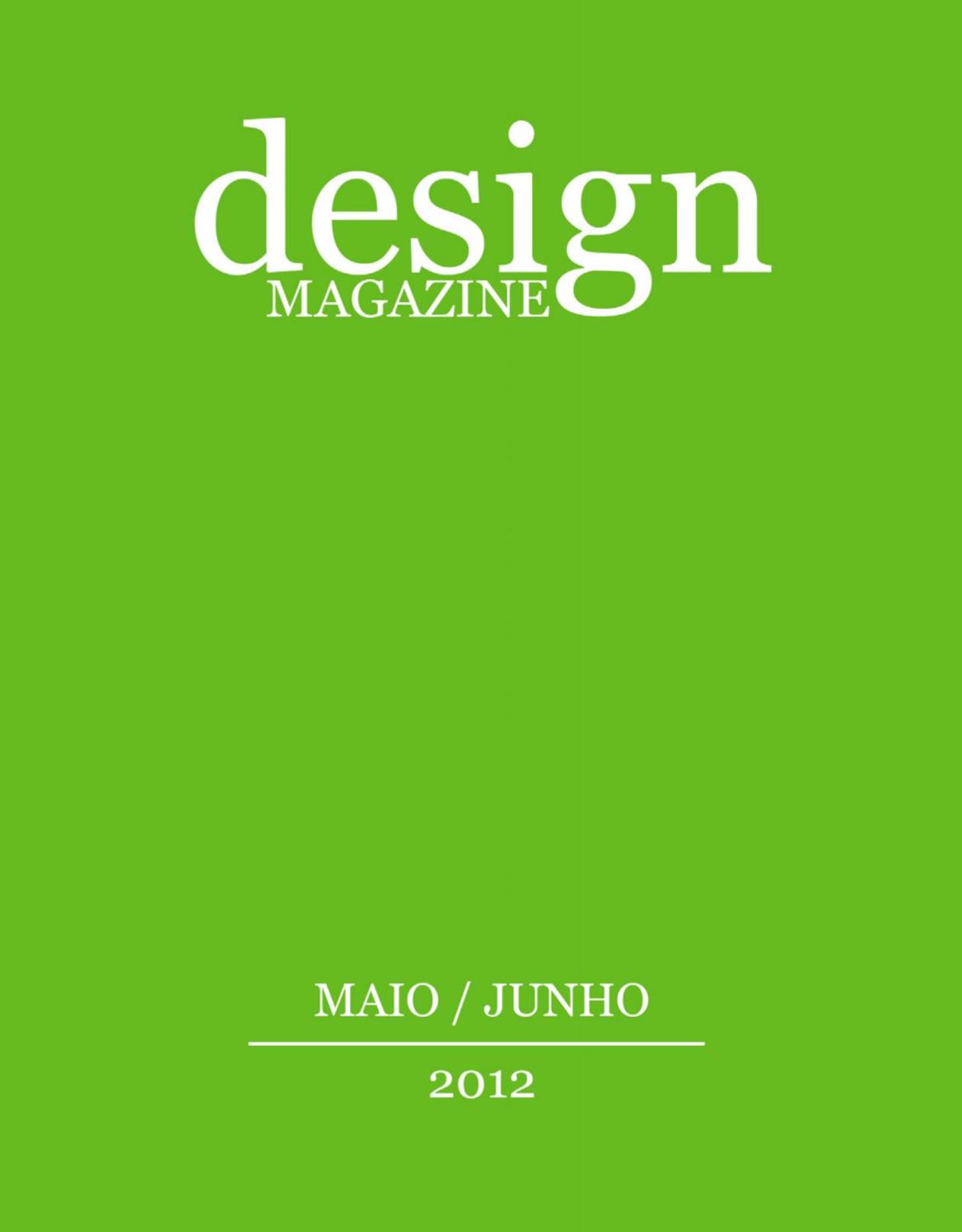 design magazine #5, Maio / Junho 2012